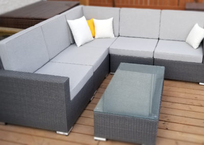 Marbella Collection 5-Piece Outdoor Patio Furniture Conversation Sectional