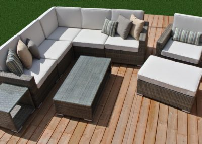 Marbella Collection 9-Piece Outdoor Patio Furniture Conversation Sectional